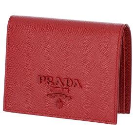 450b4d657efe プラダ PRADA 2019年春夏新作 財布 レディース ミニ財布 サフィアーノレザー 二つ折り財布