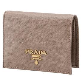 プラダ PRADA 財布 レディース ミニ財布 サフィアーノメタル 二つ折り財布 ベージュ 1MV204 QWA 236
