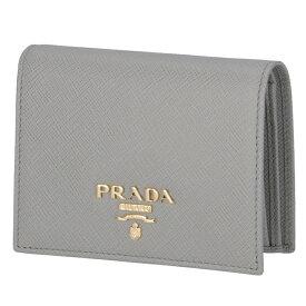 プラダ PRADA 財布 二つ折り ミニ財布 サフィアーノ レディース グレー系 1MV204 QWA 424