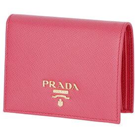 プラダ PRADA サフィアーノ 財布 二つ折り レディース ミニ財布 二つ折り財布 ピンク系 1MV204 QWA 505【06-SS】