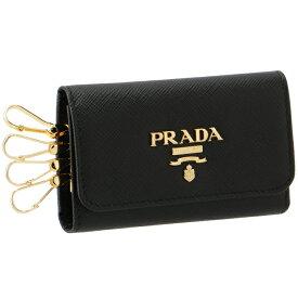 プラダ PRADA 2020年春夏新作 キーケース 4連 レディース サフィアーノ ブラック 1PG004 QWA 002
