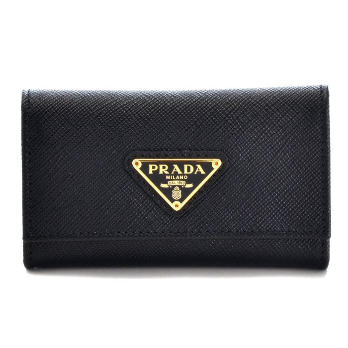 プラダ PRADA キーケース 2017年秋冬新作 型押しカーフスキン 6連キーケース 1PG222 QHH 002
