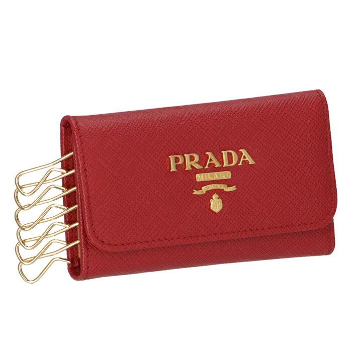 プラダ PRADA キーケース 1PG222 キーケース レディース サフィアーノ 6連キーケース レッド 1PG222 QWA 68Z