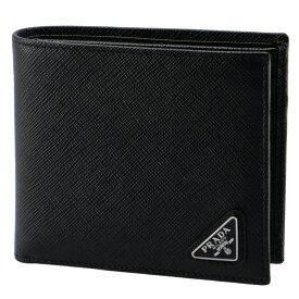 プラダ PRADA 2018年秋冬新作 財布 型押しカーフスキン メンズ 二つ折り財布 2MO738 QHH 002