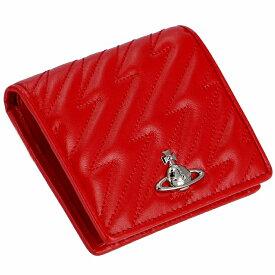 ヴィヴィアン ウエストウッド VIVIENNE WESTWOOD 財布 二つ折り レディース ミニ 財布 レッド系 51010024 0007 0032