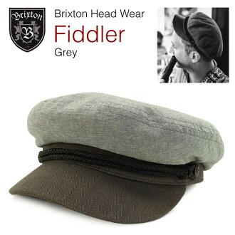 브리크스톤피드라핏샤만인스파이아드워브캐프그레이(Brixton FIDDLER FISHERMAN INSPIRED BILLED WOVEN CAP)