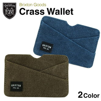 Class wallet Brixton (Brixton CRASS card mini wallet)