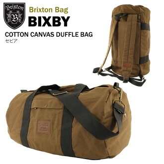 b4c3ad6af0 Brixton Bixby cotton canvas duffle bag and backpack 2-WAY bag sepia (Brixton  BIXBY