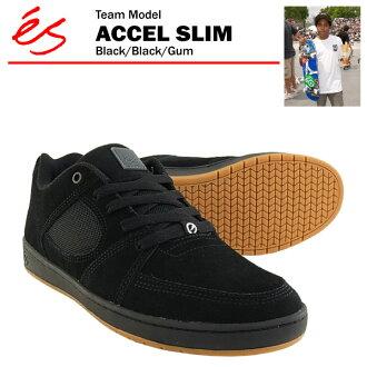 ES Accel Slim Black / Black / gum skater ES (es ACCEL SLIM)