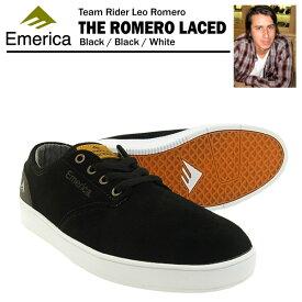 エメリカ ザ・ロメロ レースド ブラック/ブラック/ホワイト スケート スケーター スニーカー (Emerica THE ROMERO LACED)