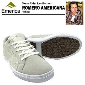 エメリカ ロメロ アメリカーナ ホワイト スケート スケーター スニーカー (Emerica ROMERO AMERICANA) 【あす楽対応】【楽ギフ_包装】【あす楽_土曜営業】