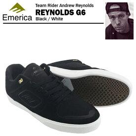 エメリカ レイノルズ G6 ブラック/ホワイト スケート スケーター スニーカー (Emerica REYNOLDS G6)