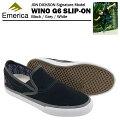 エメリカワイノG6スリップオンブラック/グレー/ホワイトスケートスケーターシューズ(EmericaWINOG6)