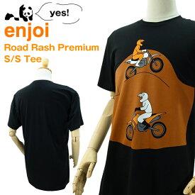 エンジョイ ロード ラッシュ プレミアム S/S Tシャツ ブラック スケート スケーターウエアー (enjoi ROAD RASH PREMIUM S/S Tee)