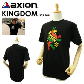 アクション キングダム S/S Tシャツ ブラック スケート スケーター スニーカー (axion KINGDOM S/S TEE) 【あす楽対応】【楽ギフ_包装】【あす楽_土曜営業】