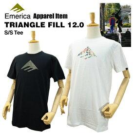 エメリカ トライアングル フィル 12.0 S/S Tシャツ ラスト:ブラック/Sサイズ スケート スケーターウエア (Emerica TRIANGLE FILL 12.0 S/S TEE)