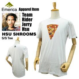 エメリカ スー シュルームス S/S Tシャツ ホワイト ラスト:Sサイズ スケート スケーターウエア (Emerica HSU SHROOMS S/S TEE)