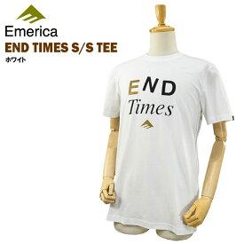 エメリカ エンド タイムス S/S Tシャツ ホワイト ラスト:Mサイズ スケート スケーターウエアー (Emerica END TIMES S/S TEE) 【あす楽対応】【楽ギフ_包装】【あす楽_土曜営業】
