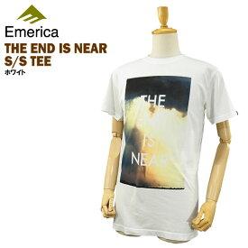 エメリカ ザ エンド イズ ニアー S/S Tシャツ ホワイト ラスト:Sサイズ スケート スケーターウエアー (Emerica THE END IS NEAR S/S TEE) 【あす楽対応】【楽ギフ_包装】【あす楽_土曜営業】