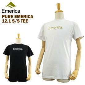 エメリカ ピュア エメリカ 12.1 S/S Tシャツ ラスト:ホワイト/ゴールド Lサイズ (Emerica PURE EMERICA 12.1 S/S TEE) 【あす楽対応】【楽ギフ_包装】【あす楽_土曜営業】