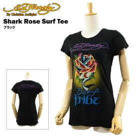 エド ハーディー ウーマン サーフ Tシャツ シャーク ローズ ブラック (Shark Rose ED HARDY EDHARDY エドハーディー) 【あす楽対応】【楽ギフ_包装】【あす楽_土曜営業】