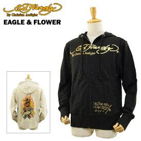 エド ハーディー メンズ ベーシック フーディー イーグル&フラワー (Men's Basic Hoodie EAGLE & FLOWER ED HARDY EDHARDY エドハーディー) 【あす楽対応】【楽ギフ_包装】【あす楽_土曜営業】