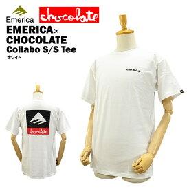エメリカ×チョコレート S/S Tシャツ ホワイト スケート スケーターウエアー (Emerica×CHOCOLATE S/S TEE コラボモデル) 【あす楽対応】【楽ギフ_包装】【あす楽_土曜営業】