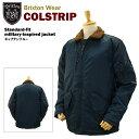 ブリクストン コルストリップ スタンダードフィット ミリタリ−インスパイアド ジャケット キャプテンブルー (Brixton COLSTRIP Standard-fit military-inspired jacket)