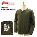 ステューシー キルティング ミリタリー ジャケット オリーブ (STUSSY QUILTED MILITARY JACKET 115303)