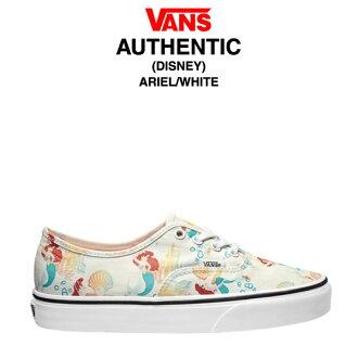 卡车确实的迪士尼阿列尔/白(VANS AUTHENTIC DISNEY ARIEL/WHITE运动鞋鞋)[6/6进货]