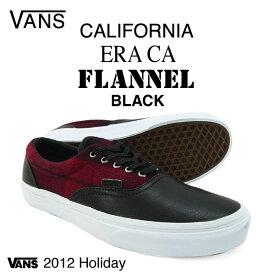 バンズ エラ カリフォルニア フランネル ブラック (VANS ERA CA FLANNEL)