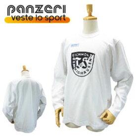 パンゼリ クルーネック ロンT EICHHOLZ プリント ロンT ホワイト/Lサイズ (Panzeri パンツェリ) Made in イタリア 【あす楽対応】【楽ギフ_包装】【あす楽_土曜営業】