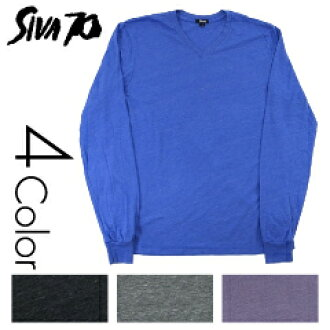 Shiva 70V neck Heather blank L/S Tee (SIVA 70)