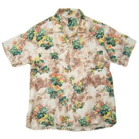 VINTAGE PENNEY'S (60's・三角タグ) ビンテージアロハシャツ フラワー柄 Hawaiian Shirt size M 【あす楽対応】【楽ギフ_包装】【あす楽_土曜営業】【古着】【海外直輸入USED品】