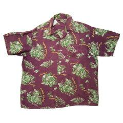 VINTAGE 50'S ハワイアン(アロハ)シャツ Made in California size L 【あす楽対応】【楽ギフ_包装】【あす楽_土曜営業】【古着】【海外直輸入USED品】