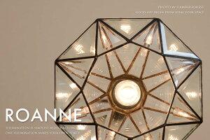 ペンダントライト■ROANNE/LT-9683■現代的なデザインに仕上げた多面体ガラスが美しい宝石のような天井照明【INTERFORMインターフォルム】