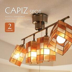 送料無料 【CAPIZ SPOT】 スポットライト シーリングライト ホワイト オレンジ ゴールド シェルランプ 貝 天然素材 北欧モダン ナチュラル