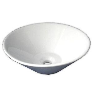 【送料無料】白陶器製デザイン円錐形手洗器カウンター洗面器ボウル Ambest SL3560 オーバーフロー無し 洗面ボール 手洗い鉢 洗面ボウル 洗面化粧台 洗面シンク 洗面台 リフォーム 和風 洋風 お