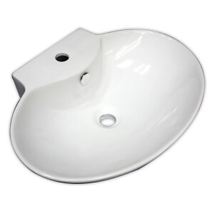 【送料無料】白陶器製デザイン貝殻型手洗器カウンター洗面器ボウル Ambest SL35L0 オーバーフロー有 洗面ボール 手洗い鉢 洗面ボウル 洗面化粧台 洗面シンク 洗面台 リフォーム 和風 洋風 お洒