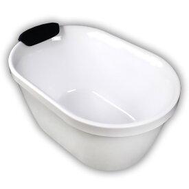 100ジョブズ人造大理石ダブルアクリル置き型浴槽風呂バスタブ湯船 Ambest BA1004 浴槽 風呂 バスタブ 排水込む 排水パイプ 簡単取付 据置タイプ エプロンなし 洋式 アンティーク風 お湯保温 入浴 和洋折衷 大型犬用バス