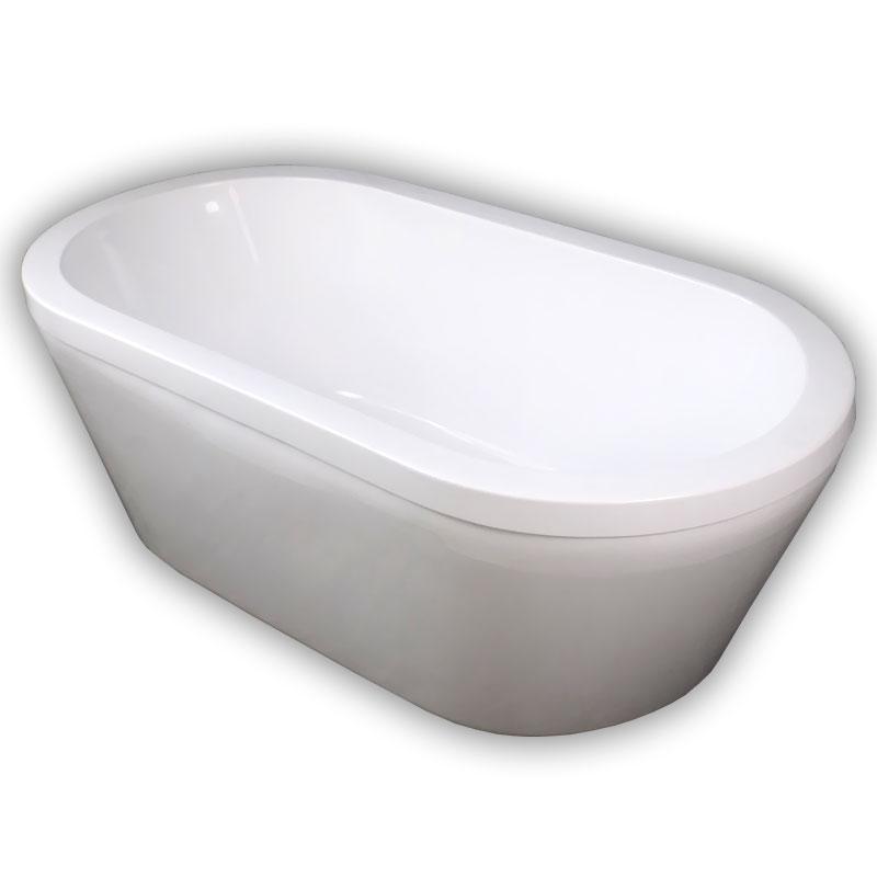 150ジョブズ人造大理石ダブルアクリル置き型浴槽風呂バスタブ湯船 Ambest BA1104 排水込む/排水パイプ/簡単取付/据置タイプ/エプロンなし/洋式/アンティーク風/お湯保温/入浴/和洋折衷