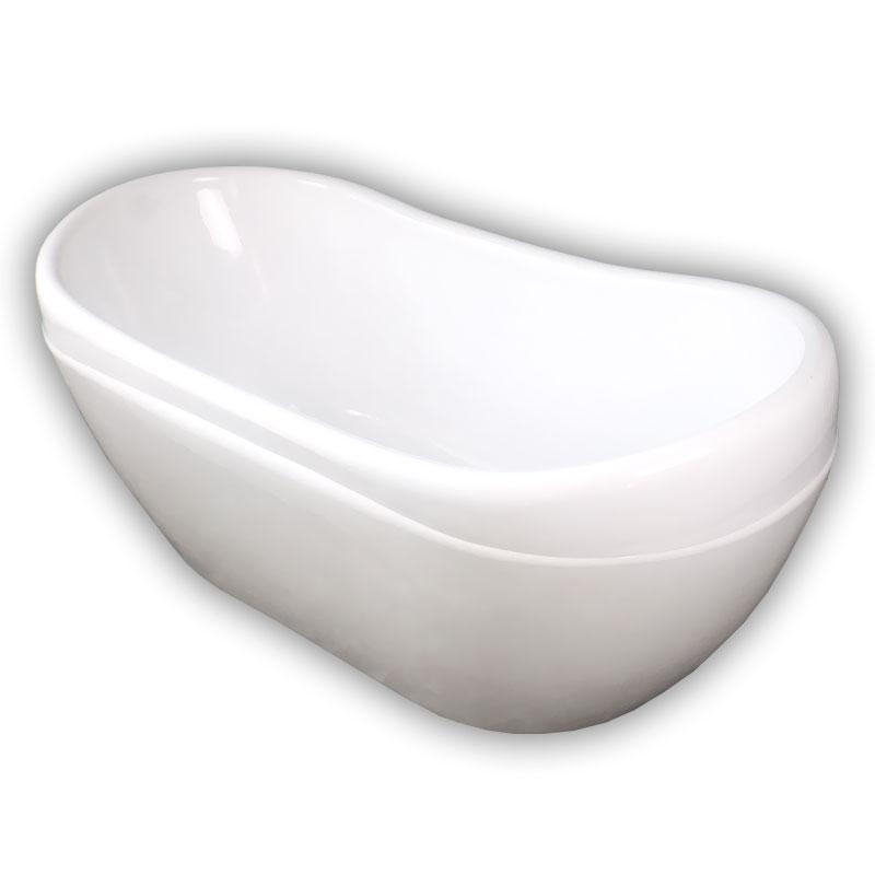150サンセット人造大理石ダブルアクリル置き型浴槽風呂バスタブ湯船 Ambest BA1107 排水込む/排水パイプ/簡単取付/据置タイプ/エプロンなし/洋式/アンティーク風/お湯保温/入浴/和洋折衷