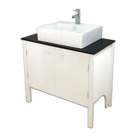 900mm白いピアノ塗装モダンスタイル洗面台と黒い塗装ガラス洗面カウンターと洗面ボール水栓セット Ambest WP9494 洗面ボウル/洗面化粧台/洗面シンク/収納/洗面台/お洒落な/手洗い鉢/棚