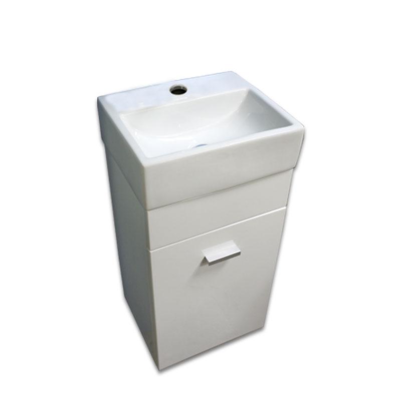 【送料無料】白陶器狭小角形トイレ手洗い器と白壁掛けキャビネット Ambest WT7331 手洗い鉢/洗面ボール/洗面シンク/収納/洗面台/新築/改築/建て替え/リフォーム/水まわり