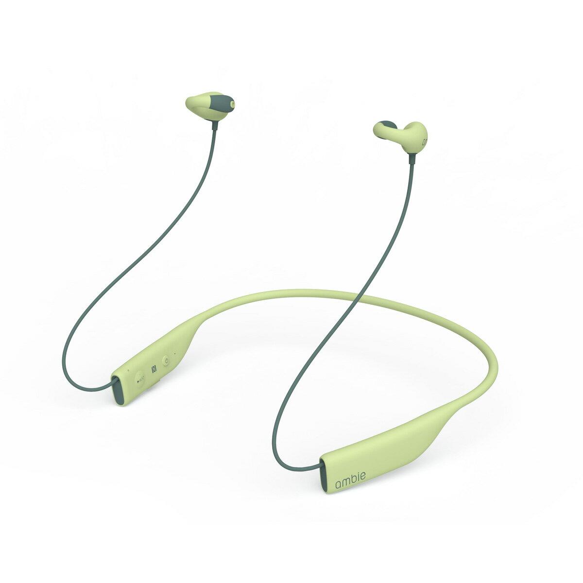 最新モデル Bluetooth イヤホン 高音質 ワイヤレス イヤホン 【ambie wireless earcuffs(アンビー ワイヤレスイヤカフ)/Cactus Green】 Bluetooth 4.1 イヤホン ランニング ブルートゥース イヤホン bluetooth ながら聴き 耳にいれない 送料無料