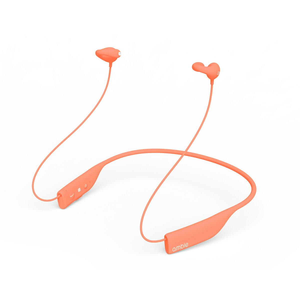【ambie wireless earcuffs(アンビー ワイヤレスイヤカフ)/Stamp Orange】最新モデル Bluetooth イヤホン 高音質 ワイヤレスイヤホン Bluetooth 4.1 ランニング ブルートゥース イヤホン bluetooth ながら聴き 耳にいれない 送料無料