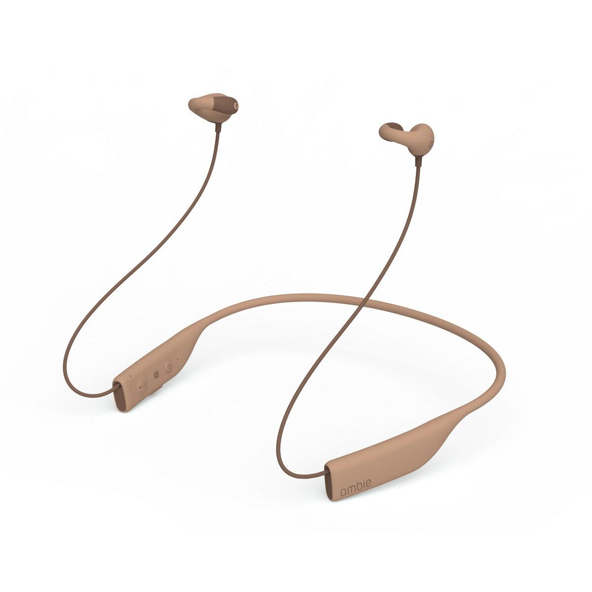 【ambie wireless earcuffs(アンビー ワイヤレスイヤカフ)/Toypu Brown】最新モデル Bluetooth イヤホン 高音質 ワイヤレス イヤホン ランニング ブルートゥースイヤホン bluetooth ながら聴き 耳にいれない 送料無料