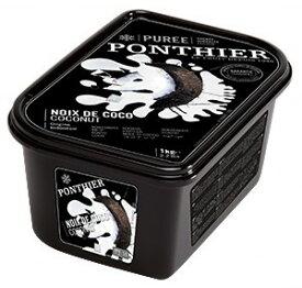【冷凍】ポンティエ ココナッツピューレ 加糖 1kg