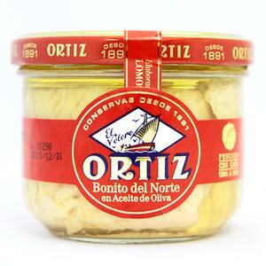 【パスタやサラダにはこれ!】オルティス社 ビンナガマグロのオリーブオイル漬 220g