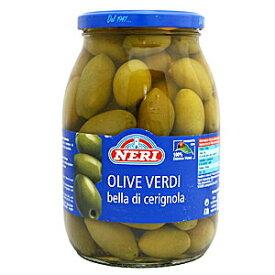 【イタリアのプーリア産!大容量で大粒でこの価格!】ネーリ グリーンチェリニョーラオリーブ(種有)1000g